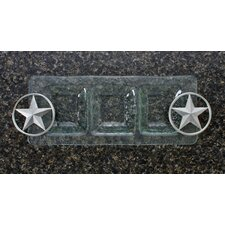 Western Star Glass 3-Section Rectangular Serving Tray