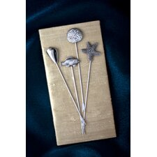 <strong>Thirstystone</strong> 4 Piece Nautical  Appetizer Pick Set