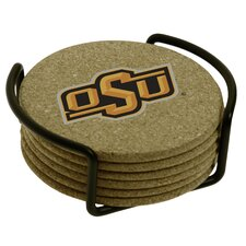 7 Piece Oklahoma State University Cork Collegiate Coaster Gift Set