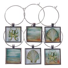 <strong>Thirstystone</strong> 6 Piece Coastal Wine Glass Charm Set