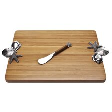 Bamboo Shells Serving Board with Spreader