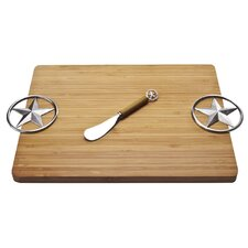 Bamboo Western Star Serving Board with Spreader