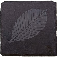 <strong>Thirstystone</strong> Etched Leaf Slate Coaster (Set of 4)