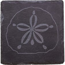 <strong>Thirstystone</strong> Etched Sand Dollar Slate Coaster (Set of 4)
