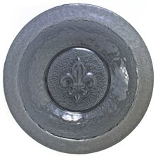 "<strong>Thirstystone</strong> Fleur de Lis Glass Embossed 14.5"" Serving Bowl"