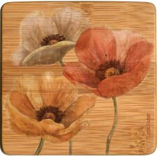 <strong>Thirstystone</strong> Poppy Allure II Bamboo Coaster (Set of 4)