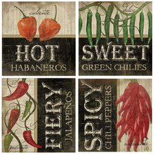 <strong>Thirstystone</strong> 4 Piece Peppers Coaster Set