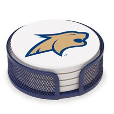 5 Piece Montana State University Collegiate Coaster Gift Set
