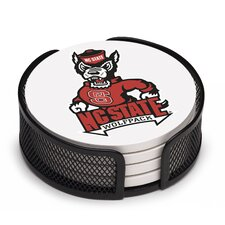 5 Piece North Carolina State University Collegiate Coaster Gift Set