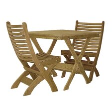 <strong>Hershy Way</strong> Folding 3 Piece Dining Set
