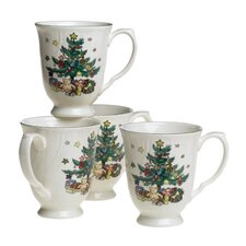 <strong>Nikko Ceramics</strong> Happy Holidays 10 oz. Mug (Set of 4)