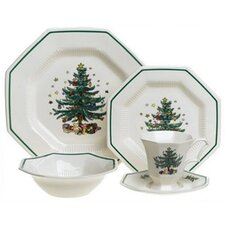 <strong>Nikko Ceramics</strong> Christmastime 5 Piece Place Setting