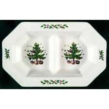 "<strong>Nikko Ceramics</strong> Christmastime 11.5"" Divided Serving Dish"