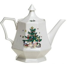 Christmastime Teapot and Lid