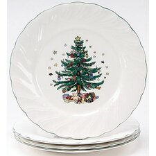 "Happy Holidays 10.5"" Dinner Plate (Set of 4)"