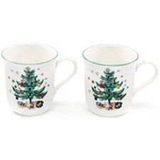 <strong>Nikko Ceramics</strong> Happy Holidays 9 oz. Mug (Set of 2)