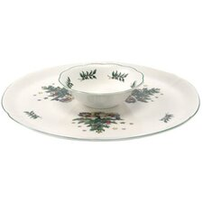 Xmas Dinnerware Chip and Dip Plate
