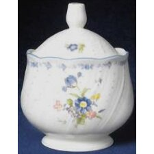 Blue Peony Sugar Bowl with Lid