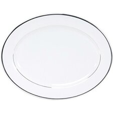 "Sentiments Band of Platinum 14"" Oval Platter"