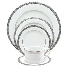 <strong>Nikko Ceramics</strong> Sentiments Platinum Filigree Dinnerware Set