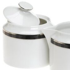 Black Tie Sugar Bowl with Lid