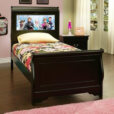 LightHeaded Beds Edgewood Sleigh Bed with Changeable Imagery