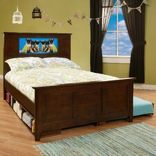 LightHeaded Beds Shaker Full Bed with Trundle, Storage and back-lit LED Headboard Imagery