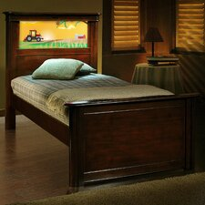 Riviera Twin Panel Bed with Back-Lit LED Headboard Imagery