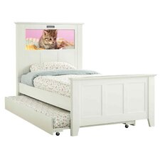 Shaker Twin Panel Bed with Trundle, Kitten and Dolphins Interchangeable HeadLightz
