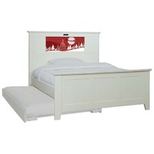 Shaker Full Panel Bed with Trundle, Santa and Dolphins Interchangeable HeadLightz