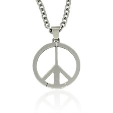 Stainless Steel PeaceSign Pendant