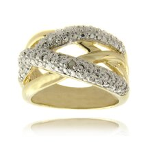 <strong>Gem Jolie</strong> Gold Overlay Diamond Accent Multi Band Ring