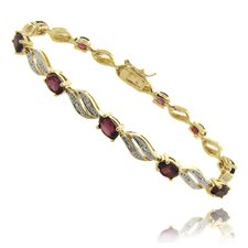 Diamond Accent Gemstone Bracelet