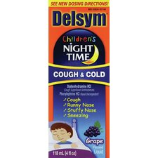 Delsym 4 oz. Children's Night Time Grape Cough and Cold Liquid