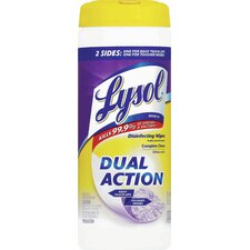 Lysol Dual Action Disinfecting Wipes (35 Wipes)