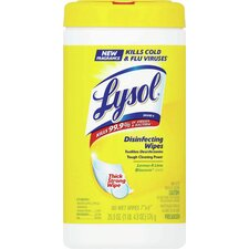 <strong>Reckitt</strong> Lysol Disinfecting Wipes (Pack of 80)