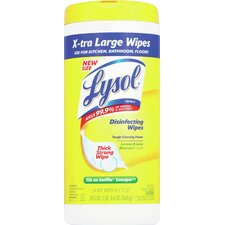 Lysol Disinfecting Extra Large Wipes (Pack of 54)