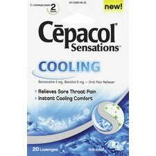 Cepacol Cooling Sensations Lozenges (Pack of 20)