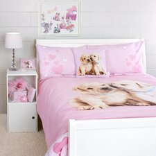 Puppy Love Duvet Cover Queen Bed Set