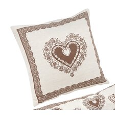 Hearts Knife Edge Filled Cushion Case