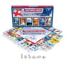 Post Office-Opoly Wonders of America Stamps Edition Board Game