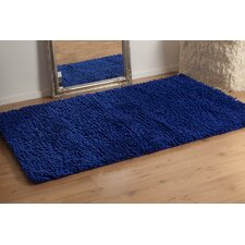 Coral Clematis Blue Contemporary Rug