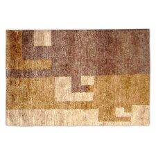 Natural Brown Contemporary Rug