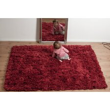Highlander Mixed Red Shaggy Rug