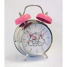 Cat Voice Twin Bell Quartz Alarm Clock