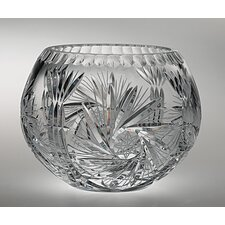 "<strong>Majestic Crystal</strong> Pinwheel 5""  Crystal Rose Bowl"