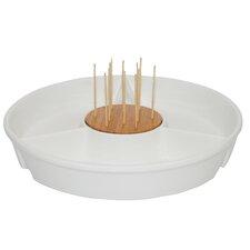 22.3cm Glazed Porcelain Serving Dish in White