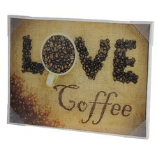<strong>River Cottage Gardens</strong> Love Coffee Glass Wall Art