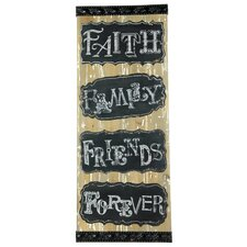 Faith Family Friends Forever Textual Art Plaque