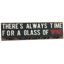 Time For Wine Textual Art Plaque
